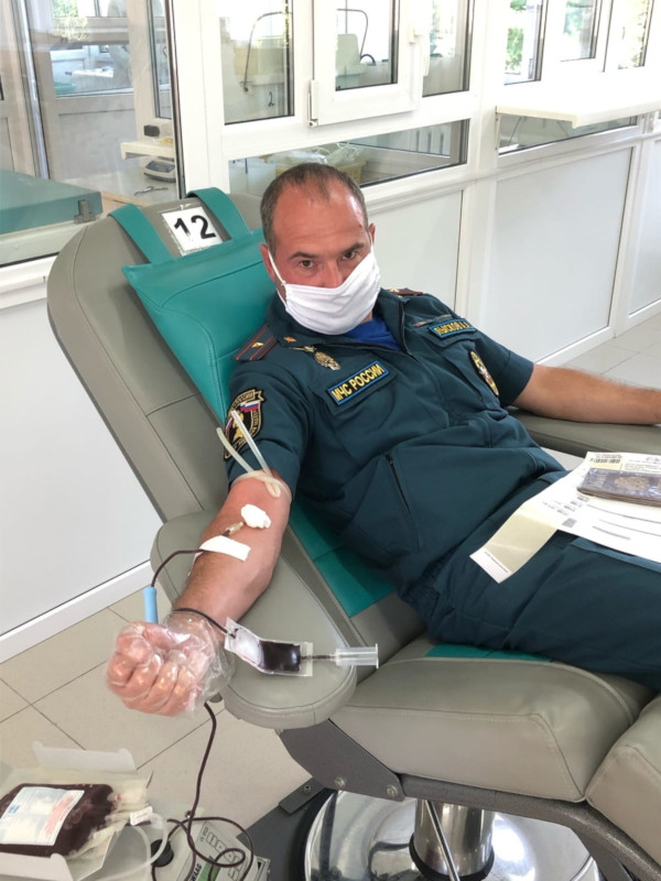 Вы просматриваете фотографии из материала: Акция «Стань донором крови!» для сотрудников МЧС